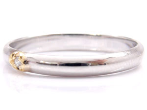 【送料無料】ペアリング ホワイトゴールドk10 イエローゴールドk18ダイヤモンド 結婚指輪 マリッジリング 10金 ダイヤ ストレート カップル 贈り物 誕生日プレゼント ギフト 価格が安いk10 人気のレディース 手作り 天然宝石 工房直販