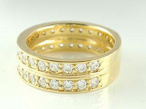 【送料無料】ペアリング 結婚指輪 マリッジリング ダイヤモンド ハーフエタニティ ホワイトゴールドk18 イエローゴールドk18 結婚式 18金 ダイヤ ストレート カップル 結婚指輪 指輪 リング マリッジ リング 結婚 ゴールドk18