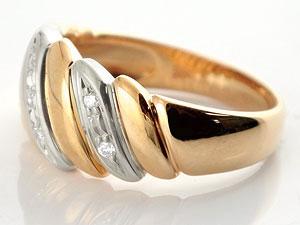 【送料無料】ペアリング 結婚指輪 マリッジリング ダイヤモンド 幅広 ピンクゴールドk18 プラチナ 結婚式 18金 ダイヤ ストレート カップル 贈り物 誕生日プレゼント ギフト 結婚指輪 指輪 リング マリッジ リング 結婚 幅広