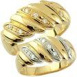 【送料無料】ペアリング 結婚指輪 マリッジリング ダイヤモンド 幅広 イエローゴールドk18 プラチナ 結婚式 18金 ダイヤ ストレート カップル