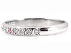 【送料無料】ペアリング ダイヤモンド 結婚指輪 マリッジリング ピンクサファイア 甲丸 ホワイトゴールドk18 18金 ダイヤ ストレート カップル 贈り物 誕生日プレゼント ギフト 結婚指輪 指輪 リング マリッジリング 結婚 ホワイトゴールドk18