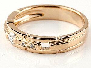 【送料無料】鑑定書付 ペアリング 人気 結婚指輪 ダイヤモンド プラチナ マリッジリング SI 結婚式 ピンクゴールドk18 ダイヤ 18金 ストレート カップル 贈り物 誕生日プレゼント ギフト 結婚指輪 指輪 リング マリッジ リング 結婚
