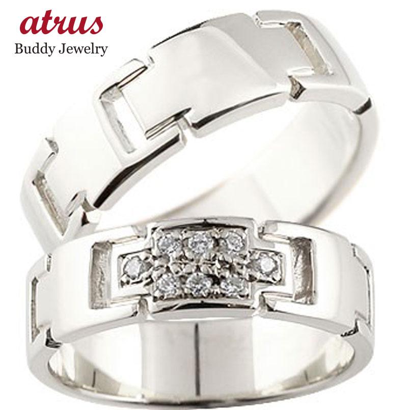 【送料無料】プラチナ ペアリング クロス 結婚指輪 マリッジリング ダイヤモンド ダイヤ 十字架 シンプル 結婚式 pt900 人気 ストレート カップル 贈り物 誕生日プレゼント ギフト