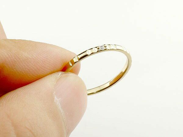 【送料無料】ペアリング 結婚指輪 マリッジリング ダイヤモンド イエローゴールドk18 ホワイトゴールドk18 ダイヤ 18金 極細 華奢 結婚式 ストレート スイートペアリィー カップル 贈り物 誕生日プレゼント ギフト【877434】 まるで着けていない様な着け心地 極細ペアリング
