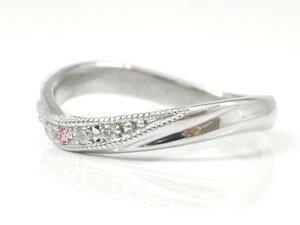 結婚指輪 ペアリング マリッジリング ダイヤモンド ピンクサファイア プラチナ ミル打ち 結婚式 ダイヤ カップル 贈り物 誕生日プレゼント ギフト 結婚指輪 プラチナ 指輪 リング マリッジ リング 結婚