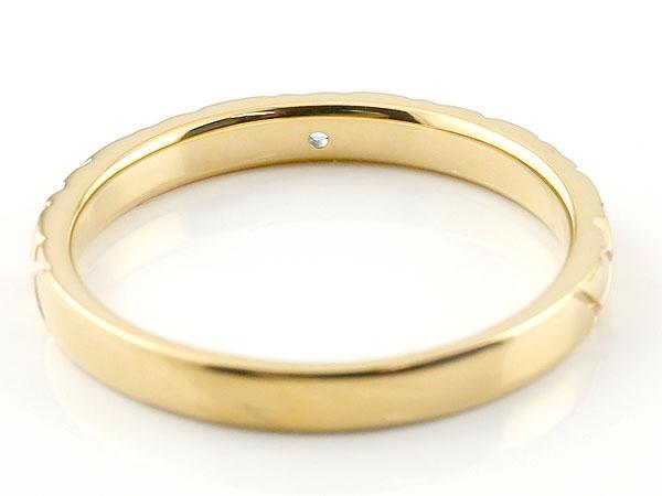 【送料無料】ペアリング 結婚指輪 マリッジリング ダイヤモンド イエローゴールドk18 ホワイトゴールドk18 k18wg アンティーク 結婚式 ダイヤ ストレート18金 ダイヤリング アンティークな風合いのペアリング