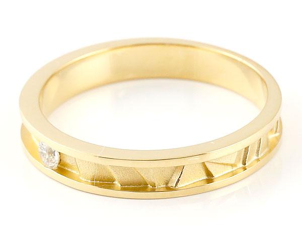 ペアリング ダイヤモンド イエローゴールドk18 マリッジリング 結婚指輪  ストレート カップル 18金 ダイヤ 贈り物 誕生日プレゼント ギフト 結婚指輪 指輪 リング マリッジ ペアリング