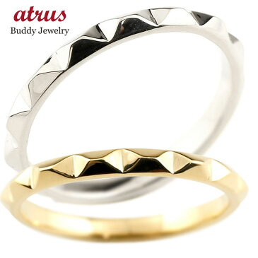 【送料無料】ペアリング マリッジリング 結婚指輪 イエローゴールドk10 ホワイトゴールドk10 ストレート カップル 10金 宝石なし 地金 メンズ レディース 贈り物 誕生日プレゼント ギフト ファッション お返し 春コーデ