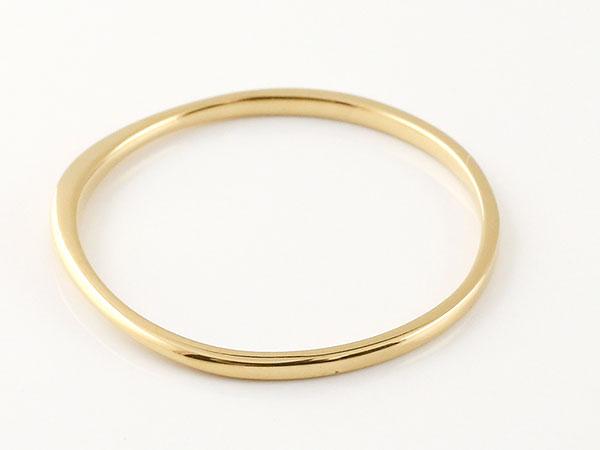 【送料無料】スイートペアリィー インフィニティ ペアリング 結婚指輪 マリッジリング ダイヤモンド イエローゴールドk18 ストレート一粒 18金 華奢【877434】 まるで着けていない様な着け心地 極細ペアリング