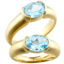 ショッピングペアリング ペアリング イエローゴールドk10 大粒 一粒 ブルートパーズ リング 結婚指輪 マリッジリング 10金 指輪 プレゼント 女性 送料無料