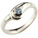 【】タンザナイト プラチナリング 指輪 ピンキーリング V字 シンプル 一粒 レディース 12月誕生石 ウェーブリング ファッションリング
