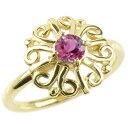 ショッピング指輪 ゴールド リング ルビー レディース 指輪 イエローゴールドk10 婚約指輪 安い エンゲージリング ピンキーリング 透かし アラベスク アンティーク 花