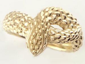 【送料無料】スネークリング 蛇 指輪 ピンキーリング イエローゴールドk18 地金リング 宝石なし 18金 贈り物 誕生日プレゼント ギフト 指輪 ゴールド シンプル 送料無料 手作り レディース 人気