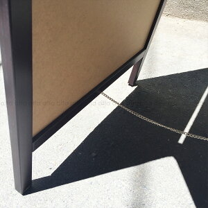 A型看板(小)茶枠ホワイトボードABS-42W木製両面タイプ・マグネット使用可・マーカー用
