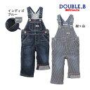 ダブルB【DOUBLE B】デニム★オーバーオール〈L-LL(100cm-110cm)〉