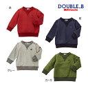 [10%OFF 12/15まで]ダブルB【DOUBLE B】Everyday Double_B☆シンプルトレーナー(70cm-150cm)