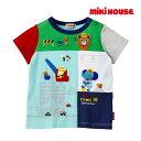 ミキハウス【MIKI HOUSE】編みワッペン付き☆働くプッチー半袖Tシャツ(100cm・110cm)