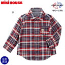 ミキハウス正規販売店/ミキハウス mikihouse リバーシブルチェックシャツ(80cm・90cm・100cm)