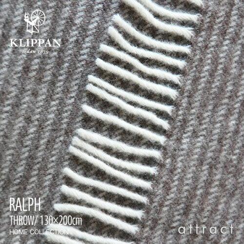 KLIPPAN クリッパン Home Collection THROW RALPH ブランケット フリンジ付き 130×200cm(ブラウン)