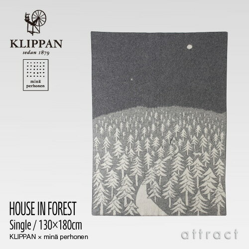 KLIPPAN クリッパン Home Collection HOUSE IN THE FOREST ブランケット 130×200cm(グレー)