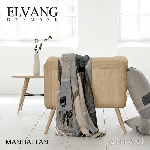 ELVANG エルヴァン DENMARK デンマーク MANHATTAN ブランケット(Jade Green/Dusty Green)