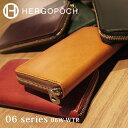 エルゴポック HERGOPOCH Waxed Leather ワキシングレザー 06W-WTR ラウンドジップ ウォレット 長財布・札束入れ 3方ファスナー 財布 カード ビジネス カジュアル 【RC