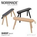 ノルメイド NORRMADE 【正規取扱店】 SHEEP シープ Bench Stool ベンチスツール デザイナー:Tools トゥールズ アッシュ材 ナチュラル …