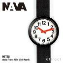 ナヴァ デザイン NAVA design メトロ Metro ウォッチ Watch ブラック ブラックレザー レッドシリコンバンド NVA020038 腕時計 ...