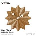 ヴィトラ Vitra ファン クロック Fan Clock Wall Clock ウォールクロック 掛け時計 デザイン:George Nelson ジョージ・ネルソン アメリカンチェリー Φ385mm デザイナー パントン イームズ 【RCP】【smtb-KD】