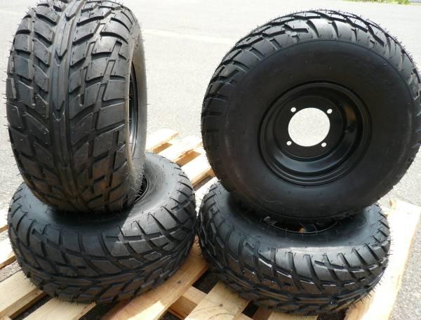 ATV バギー用 8インチチューブレス肉厚タイヤ4本セットH242