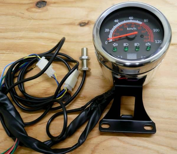 配線説明書付 バギーATV用 針式スピードメーターH012A