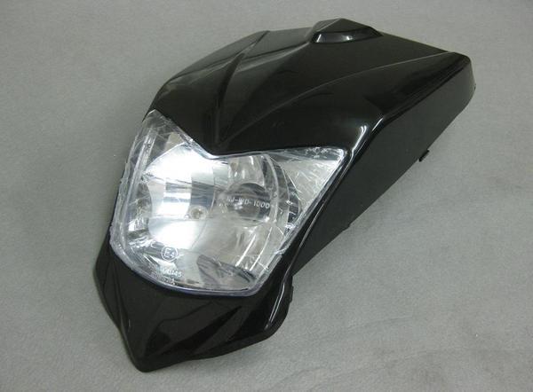 バギー用ヘッドライトカウル外装セット黒タイプ2の商品画像