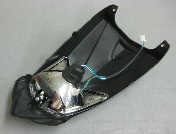 バギー用ヘッドライトカウル外装セット黒タイプ2の紹介画像2