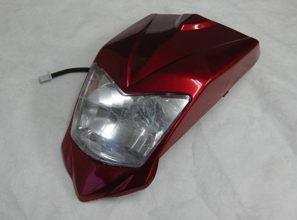 バギー用ヘッドライトカウル外装セット赤タイプ2の商品画像