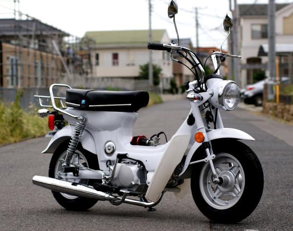 シャリー風カスタムバイク ホワイト50.125cc 新車