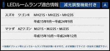 スズキワゴンRMH21S・MH22S・MH23SスティングレーMH34S/マツダAZワゴンMJ21S・MJ22S・MJ23S/マツダフレア/フレアカスタムMJ34SLEDルームランプセット【専用工具付】シリコンスマートキーカバープレゼント