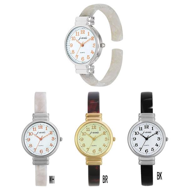 普通郵便送料無料 レディース腕時計 べっ甲調バングルウォッチ 腕時計 アンティーク調 ファッションウォッチ AL1283