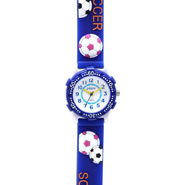 J-AXIS ジェイアクシス 送料無料  腕時計 キッズ 男の子 女の子 デコウォッチ キッズウォッチ 子供 時計TCL21-BL サッカー ブルー サンフレイム