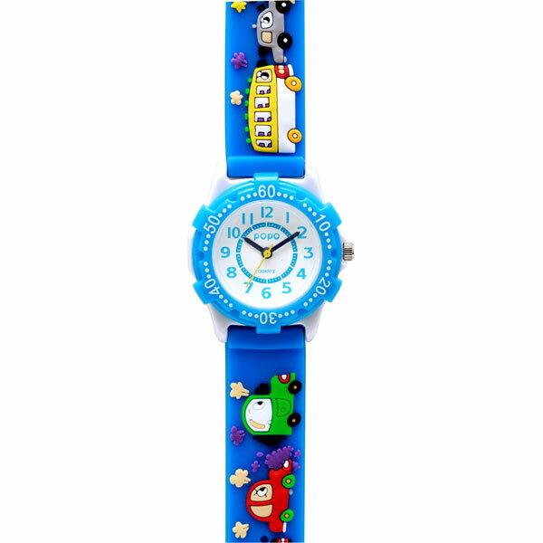 J-AXIS ジェイアクシス 送料無料  腕時計 キッズ 男の子 女の子 デコウォッチ キッズウォッチ 子供 時計TCL22-LBL 車 ブルー サンフレイム