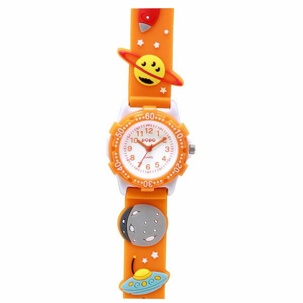 J-AXIS ジェイアクシス 送料無料  腕時計 キッズ 男の子 女の子 デコウォッチ キッズウォッチ 子供 時計TCL24-OR 宇宙 星 オレンジ サンフレイム