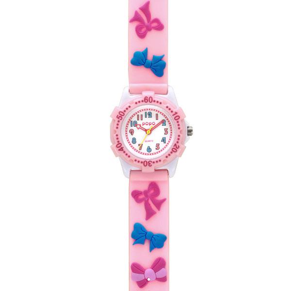 J-AXIS ジェイアクシス 送料無料  腕時計 キッズ 女の子 デコウォッチ キッズウォッチ 子供 時計TCL36-PI リボン ピンク サンフレイム