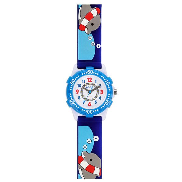 J-AXIS ジェイアクシス 送料無料  腕時計 キッズ 男の子 女の子 デコウォッチ キッズウォッチ 子供 時計 TCL41-BL イルカ ブルー サンフレイム