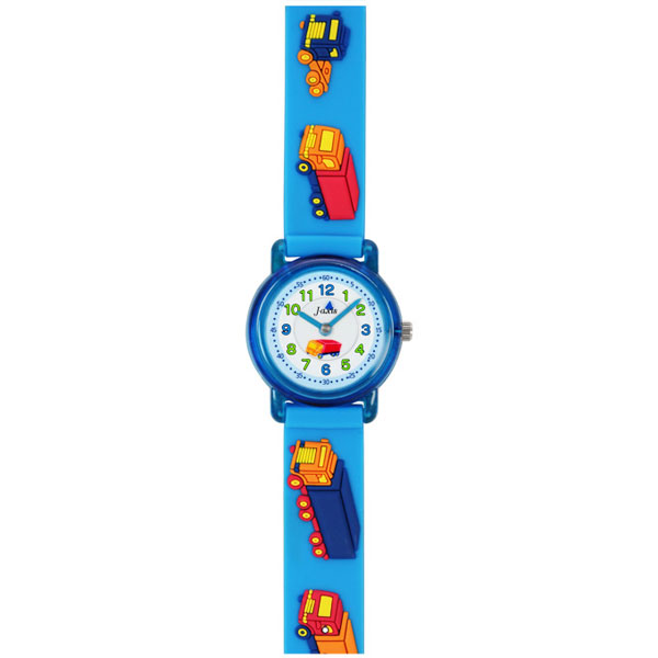 J-AXIS ジェイアクシス 送料無料  腕時計 キッズ 男の子 女の子 デコウォッチ キッズウォッチ 子供 時計TCL51-BL トラック イルカ ブルー サンフレイム