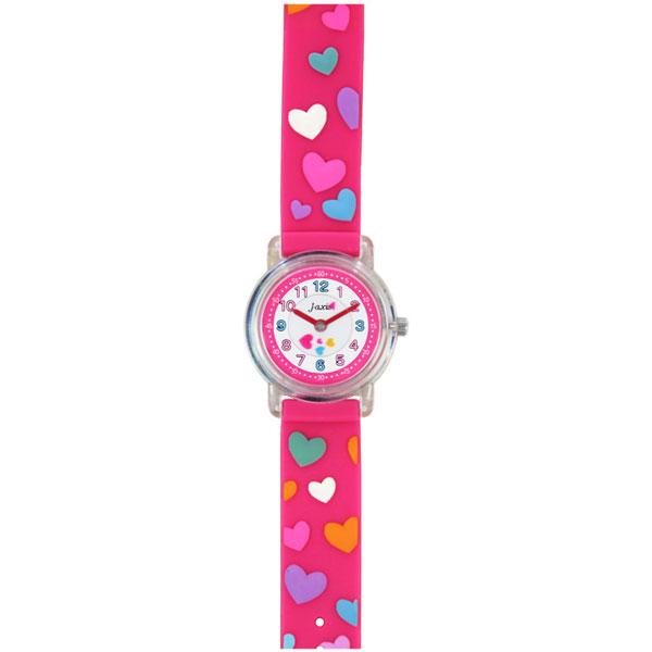 J-AXIS ジェイアクシス 送料無料  腕時計 キッズ 女の子 デコウォッチ キッズウォッチ 子供 時計TCL52 ハート ピンク サンフレイム