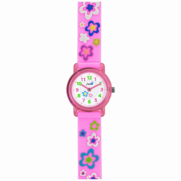 J-AXIS ジェイアクシス 送料無料  腕時計 キッズ 女の子 デコウォッチ キッズウォッチ 子供 時計TCL57 花柄 ピンク サンフレイム