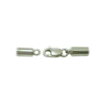 Stop tab / fitting into + clasp type silver925