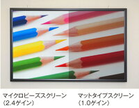プロジェクタースクリーン90インチ(16:9)タペストリー式2.2倍明るいトップクラスのガラスビーズを使用したマイクロビーズスクリーン日本製