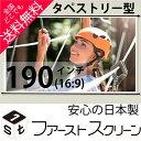 プロジェクタースクリーン190インチ(16:9)タペストリー式 HS-190Wホワイトマットスクリーン日本製