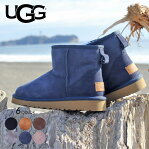 UGG ブーツ レディース CLASSIC MINI II 1016222 ムートンブーツ クラシック ミニ 秋冬 ムートン シープスキン ブラック/チェスナット/チョコレート/グレー/ネイビー 22cm-26cm