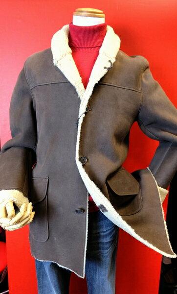 【ムートンジャケット】【PRANDI】【メンズ】【レザージャケット】【秋冬バーゲン】【メンズファッション】 ムートンジャケット ブラウン 48サイズ 10P03Sep16